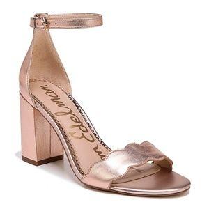 Sam Edelman Sz 8 Odila rose gold block heel sandal